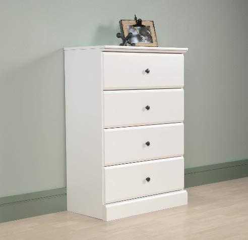 Amazon.com: Cómoda blanca de 4 cajones - Organizador de ...