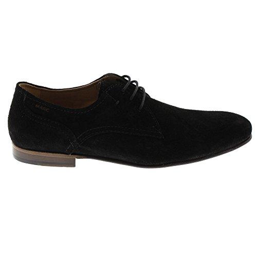 Schwarz Herren Schwarz Rauleder Ledersohle Bristol Marc Shoes Halbschuhe xOn6qwaU8