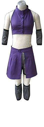 Vorwind Naruto Cosplay Costume Yamanaka Ino 2nd Purple Bare Midriff Size XX-Large -