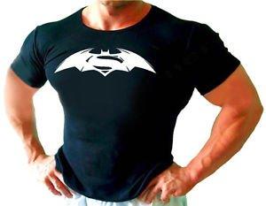 SUPERMAN BETMAN GIMNASIO CULTURISMO Hombre Nuevo Camiseta