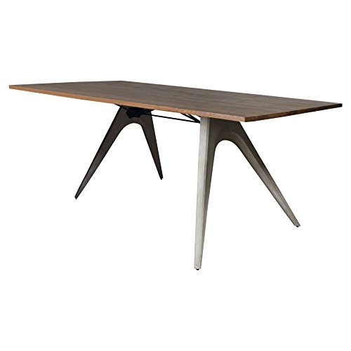 Christian Industrial Loft Concrete Wood Dining Table by Kathy Kuo Home