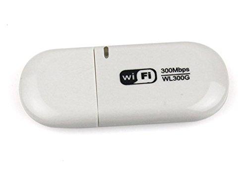 Metro Shop 30pcs 300Mbps WiFi Wireless USB Network LAN Card Adapter White Mini D2022B New