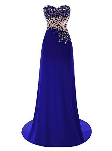trapecio azul Fanciest real mujer Vestido para Ow7S5q