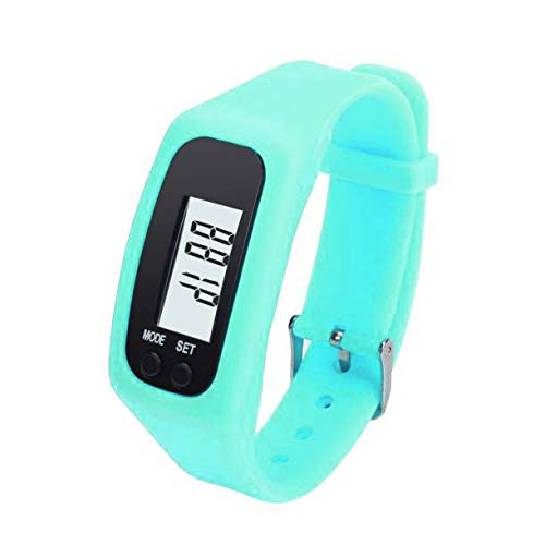 Pulsera de Reloj de Contador de calorías a pie a pie de Distancia podómetro LCD Digital