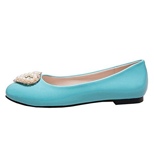 Azul Smilice Mujer Sintético Con Cuña Sandalias Material De ZwOR7qp