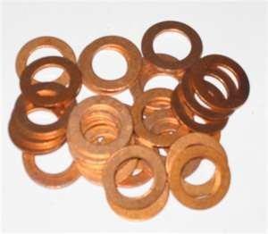 BargainBitz 10 X 9Mm Copper Sealing Washer M9 Washers Od 19Mm Kw104