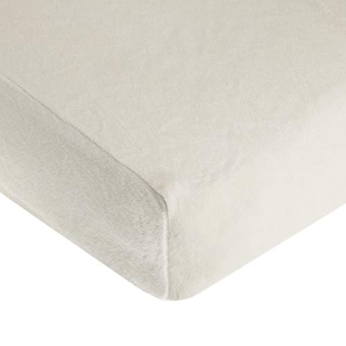 American Baby Company Heavenly Soft Chenille Fitted Crib Sheet for Standard Crib and Toddler Mattresses, Ivory