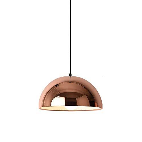 Ball Pendant Light, Adjustable Mirror Ball Pendant Lamp, Nordic Cafe Hotel Bar Chandelier, Creative Iron Art Restaurant Simple Modern Home Living Room Bedroom Ceiling Light Lamp,Warmlight,30cm ()