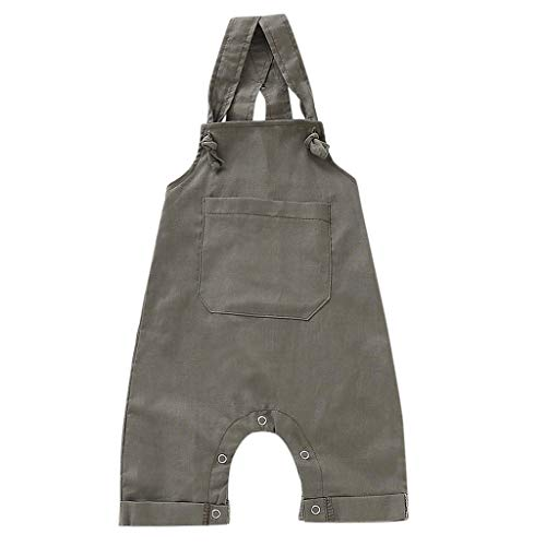 Toddler Infant Baby Girl Boy Bid Overalls Clothes,Denim Jeans Sleeveless Casual Suspender Outfits Set Khaki