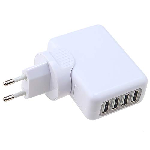 ❤️MChoice❤️4 USB Ports AC Universal Travel Wall Adaptor Charger with 4 AC