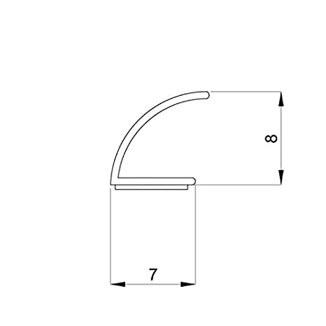5M Gummidichtung Fensterdichtung Türdichtung Selbstklebend EPD Dichtungsprofil