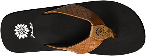 Tan Cocoa Box Women's Yellow Sandal wOWZpg6qn
