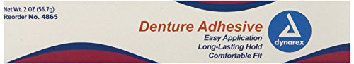 Dynarex Denture Adhesive, 2-Ounce, 72 Count by Dynarex