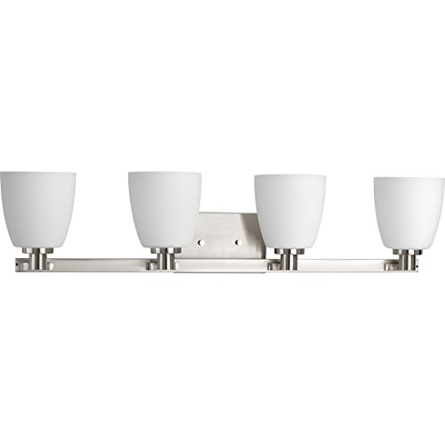 Progress Lighting P2168-09 Contemporary/Modern 4-100W Med Bath Bracket, Brushed Nickel
