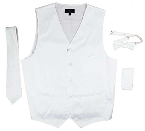 Vittorino's 4 Piece Formal Tuxedo Vest Set Combo with Tie