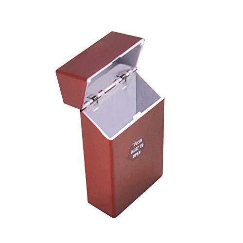 Fashion Plastic Cigarette Case Cover Hold 20 Cigarette Portable Personality Cigarette Box Tobacco Cigarette Case,Red