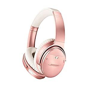 Bose QuietComfort 35 II Wireless Bluetooth Headphones, Noise-Cancelling, with Alexa Voice Control – Rose Gold