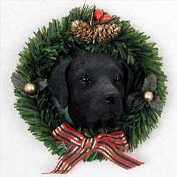 Conversation Concepts Labrador Retriever Black Wreath -