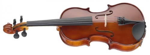 Stagg VN-4/4-Size EF 4/4-Size Solid Spruce Top Maple Violin with Ebony Fingerboard & Shaped Soft Case - Natural by Stagg