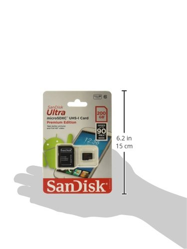 Sandisk Ultra MICROSD UHS I 200GB Flash Memory Card SDSDQUAN 200G A4A