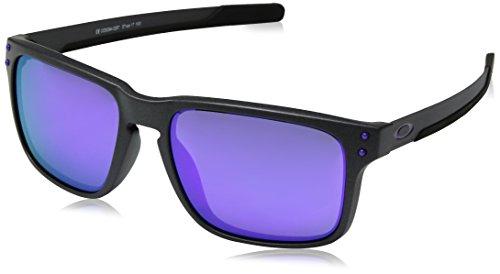 Oakley Men's Holbrook Mix Non-Polarized Iridium Rectangular Sunglasses, Steel, 57.0 ()