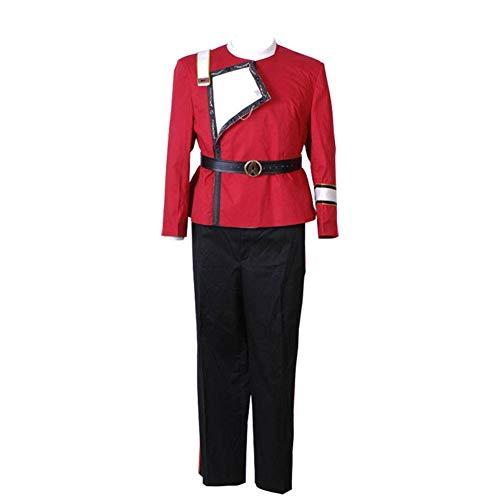 TISEA Mens Halloween Cosplay Costume Red Uniform