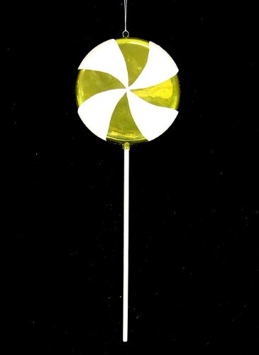 Vickerman Huge Candy Fantasy Key Lime Swirl Lollipop Christmas Decoration Ornament, 40