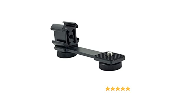 Yohii PT-3 Triple Cold Shoe Mounts Gimbal Extension Bracket Universal Mic Microphone Stand /& Light Mount Plate Adapter Rig Bracket for Zhiyun Smooth 4 DJI OSMO Mobile 2 Gimbal Stabilizer Accessories