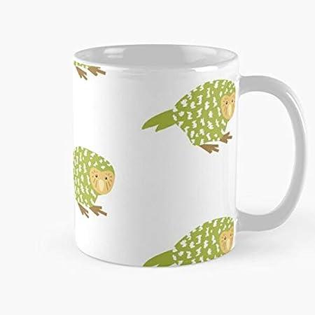 Nuevo nativo Kiwiana pájaro Kakapo lindo Zelanda Nz mejor 11oz taza de café de cerámica personalizar