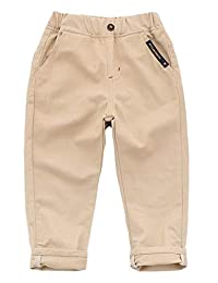 Liveinu Boys' Chino Pants Elastic Sweatpants Casual Trousers with Pockets
