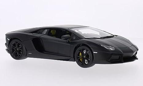 Lamborghini Aventador Lp700 4 Mat Noir 0 Voiture Miniature Miniature Deja Montee Bburago 1 18 Bburago Amazon Fr Jeux Et Jouets
