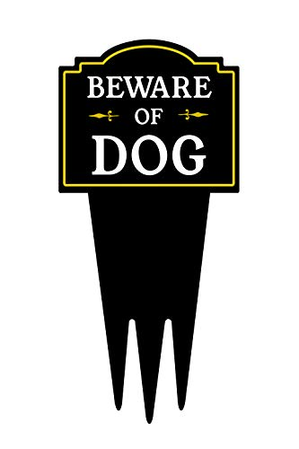 Brookfield Products Beware of Dog Yard Sign with Stake | Warning Dog on Premises | Unique Triple