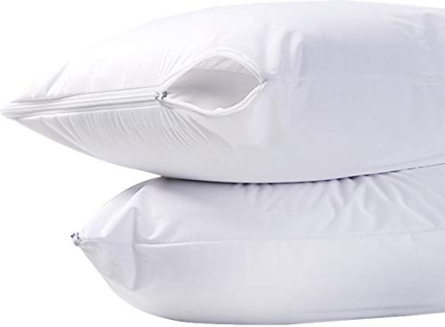 Zippered Pillow Encasement Cover Protector Bed Bug Mite Proo