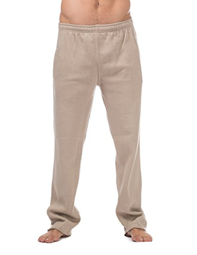 Pro Club Men's Comfort Fleece Pant, Small, Khaki