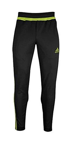 adidas Mens Tiro 15 Training Pants, Black/Semi Solar Yellow/Black, Small