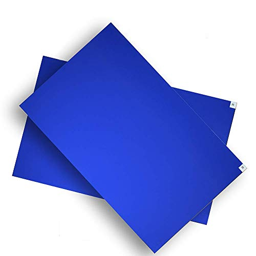 (Xinding Cleanroom Sticky/Tacky/Adhesive Mat-Lab Matting- 24''36'' Blue (4 Pads Per Pack of 30 Sheets))