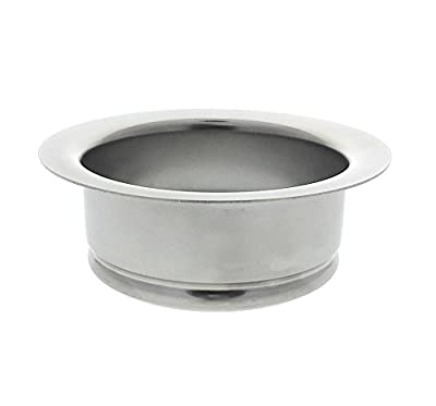 Kitchen Sink Flange, Stainless Steel Flange For Insinkerator Garbage Disposals And Other Disposers That Use A 3 Bolt Mount, By Essential Values