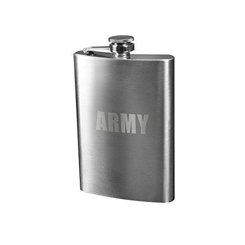 Rothco Engraved Stainless Steel Flasks, Emblem : Army