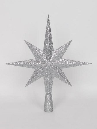 Queens of Christmas WL-TOPPER-40-SLV Star Tree Topper Ornament, 40