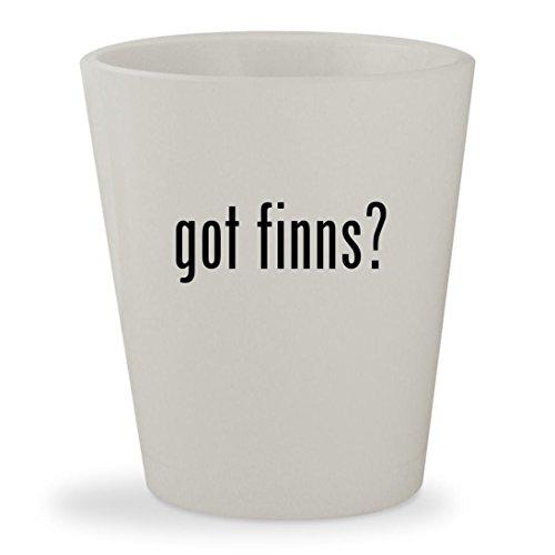 Huck Finn Costume (got finns? - White Ceramic 1.5oz Shot Glass)