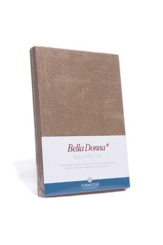 Bella Donna Edel-Frottee Spannbetttuch in 90x200 bis 100x220, für Wasserbetten und Matratzen (0091-hellgelb)