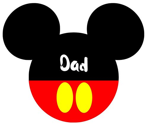 (Mickey Mouse Dad Iron On Transfer for T-Shirts & Other Light Color Fabrics #2)