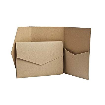 Einladung Hochzeit Weiss matt Blanko Papermane Pocketfold Karte B6//C6 2