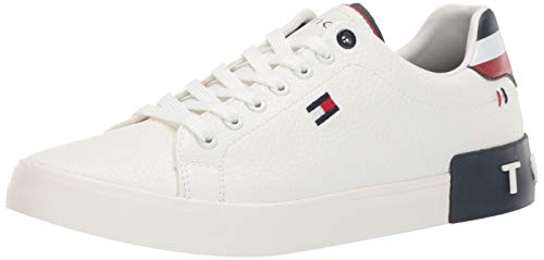 Tommy Hilfiger Men's Rezz Sneaker, White, 11 Medium US