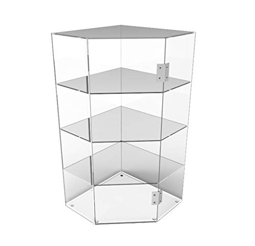 FixtureDisplays Clear Acrylic Candy Bin Partitioned Dry Food Display Spices Container Retail Donut Cookie Bin 16895-BBL-NF