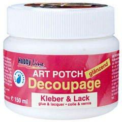 Art Potch Decoupage Kleber & Lack, glänzend, 150ml [Spielzeug]
