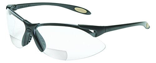 UVEX by Honeywell A952 Reader/Magnifier Series Black Frame, 2.5 Diopter Clear Lens with Anti-Scratch Hardcoat