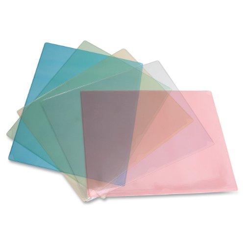 ADVANTUS Kleer-Kolor Polypropylene File Folders, Letter Size, Assorted Colors, 5/Pack (ANG22B-ST-5)