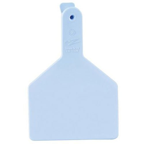 Z Tags 25 Count 1-Piece Blank Tags for Cows, Blue