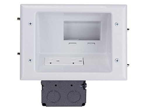 MonoPrice Recessed Low Voltage Mid-Size Plate with 20 Amp...